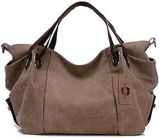 9c88743745e7 KISS GOLD(TM) Women s Canvas Hobo Top-handle Bag Crossbody Shoulder Bag