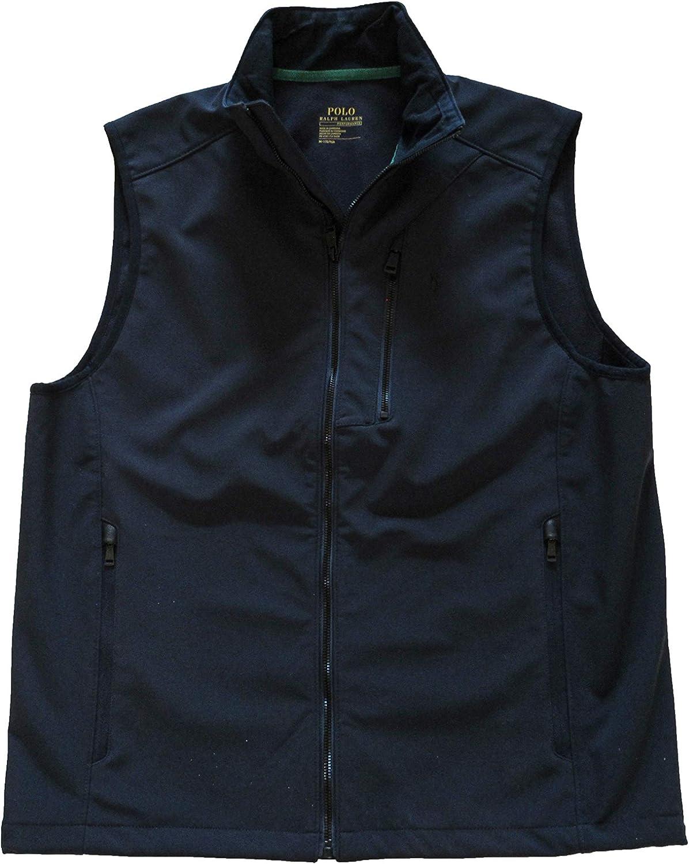 Polo Ralph Lauren Mens Big and Tall Water-Repellent Full Zip Vest