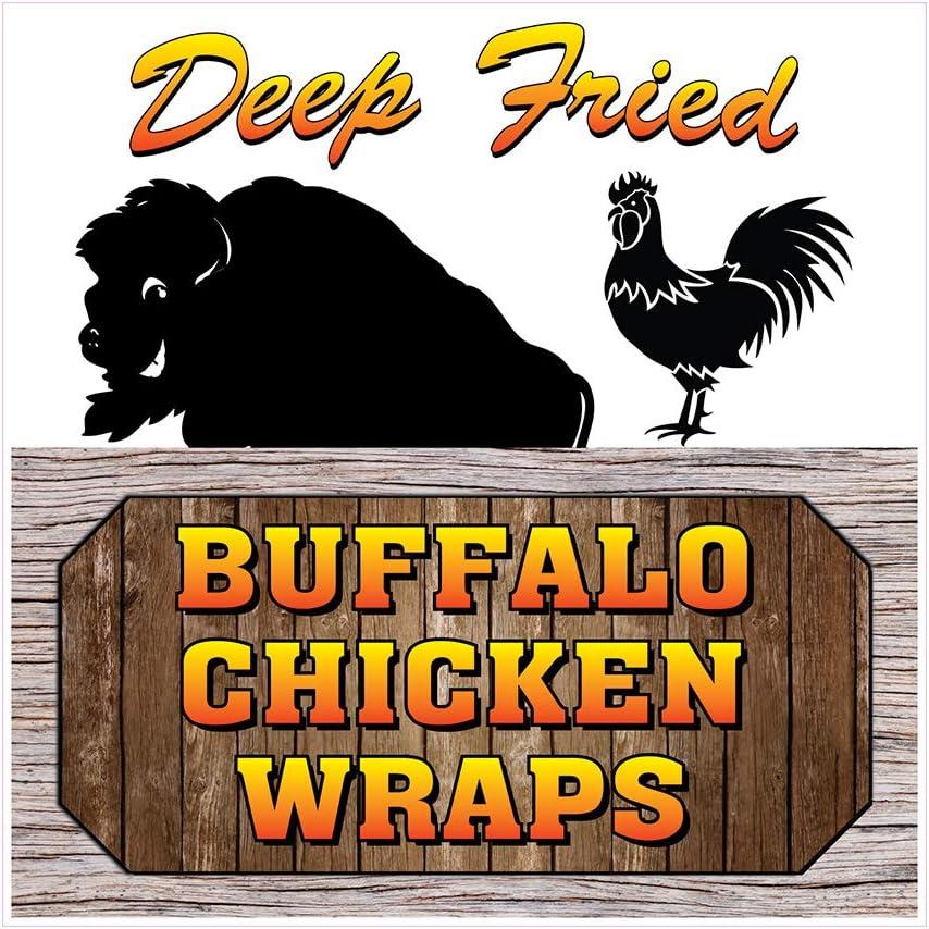 Food Truck Decals trust Deep Fried shop Restaura Concession Buffalo Chicken
