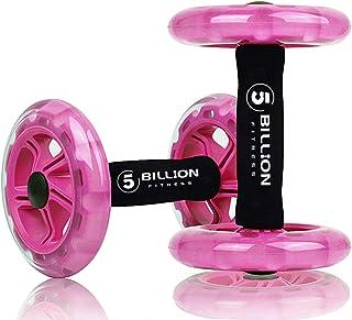 5BILLION 腹筋ローラー 腹部ホイール 膝保護マット付き 二個セット 静音 腹筋器具 筋肉トレーニング