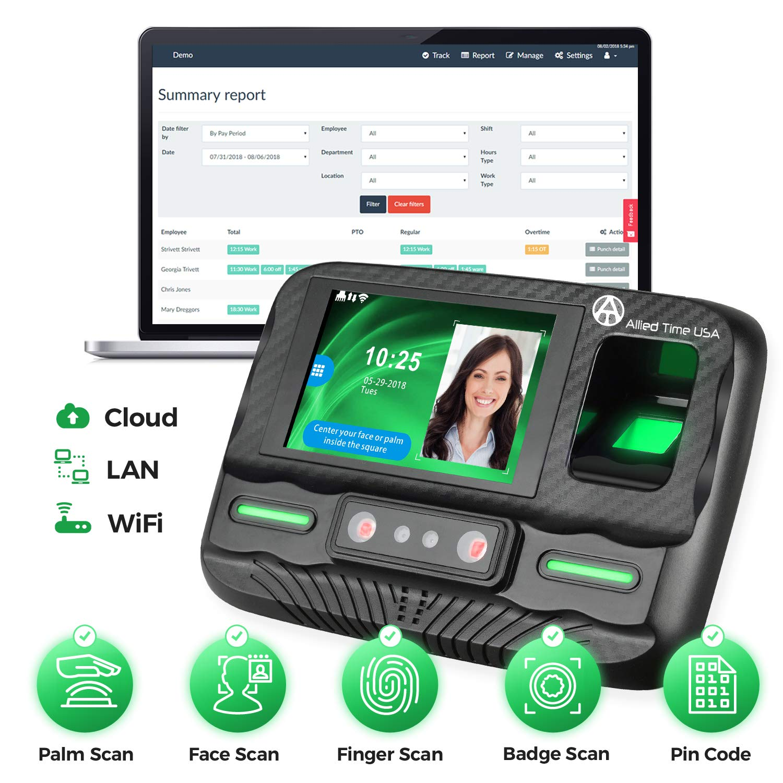 Biometric Employee Time Online Reporting