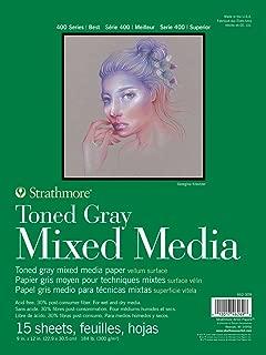 Strathmore 462-309 400 Series Toned Gray Mixed Media Pad, 9