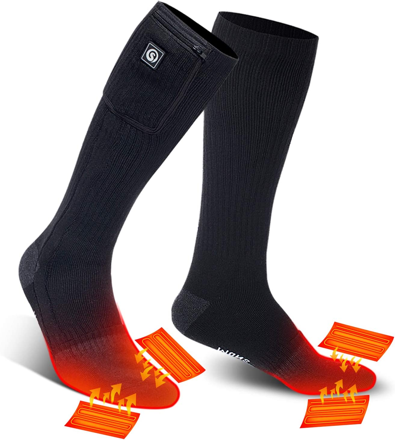 SNOW Max 82% OFF DEER Heated Socks 2021 E Upgraded 67% OFF of fixed price Battery Rechargeable 7.4V