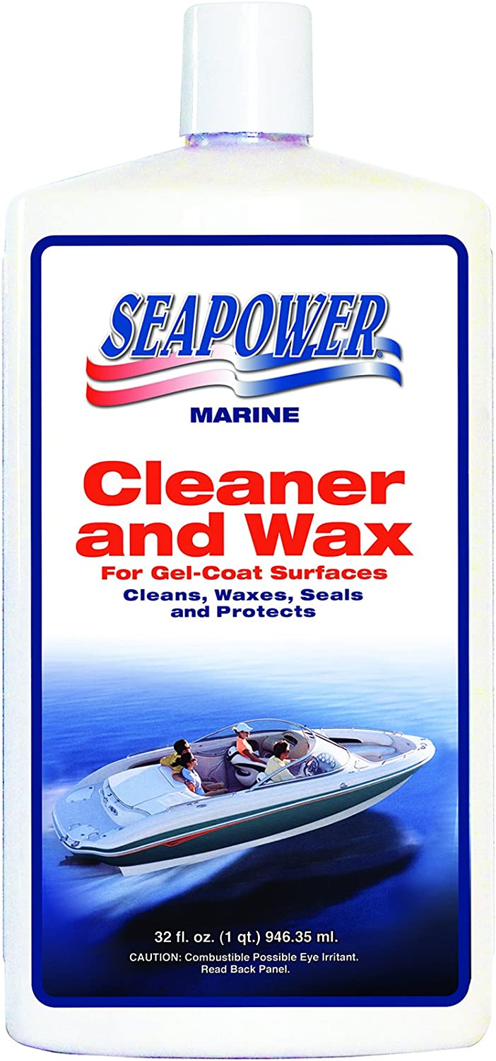 Seapower SQ-32 Marine Cleaner New Orleans Mall and Limited price sale Silicone Carnauba Wax with