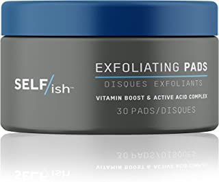 SELF/ish Exfoliating Pads   Glycolic Acid, Witch Hazel and Fruit Acid Blend   Deep Cleansing Anti Aging Resurfacing Wipes ...