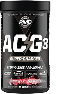 PMD Sports ACG3 Supercharged - Pre Workout - Powerful Strength, High Energy, Maximize Mental Focus, Endurance, Optimum Wor...