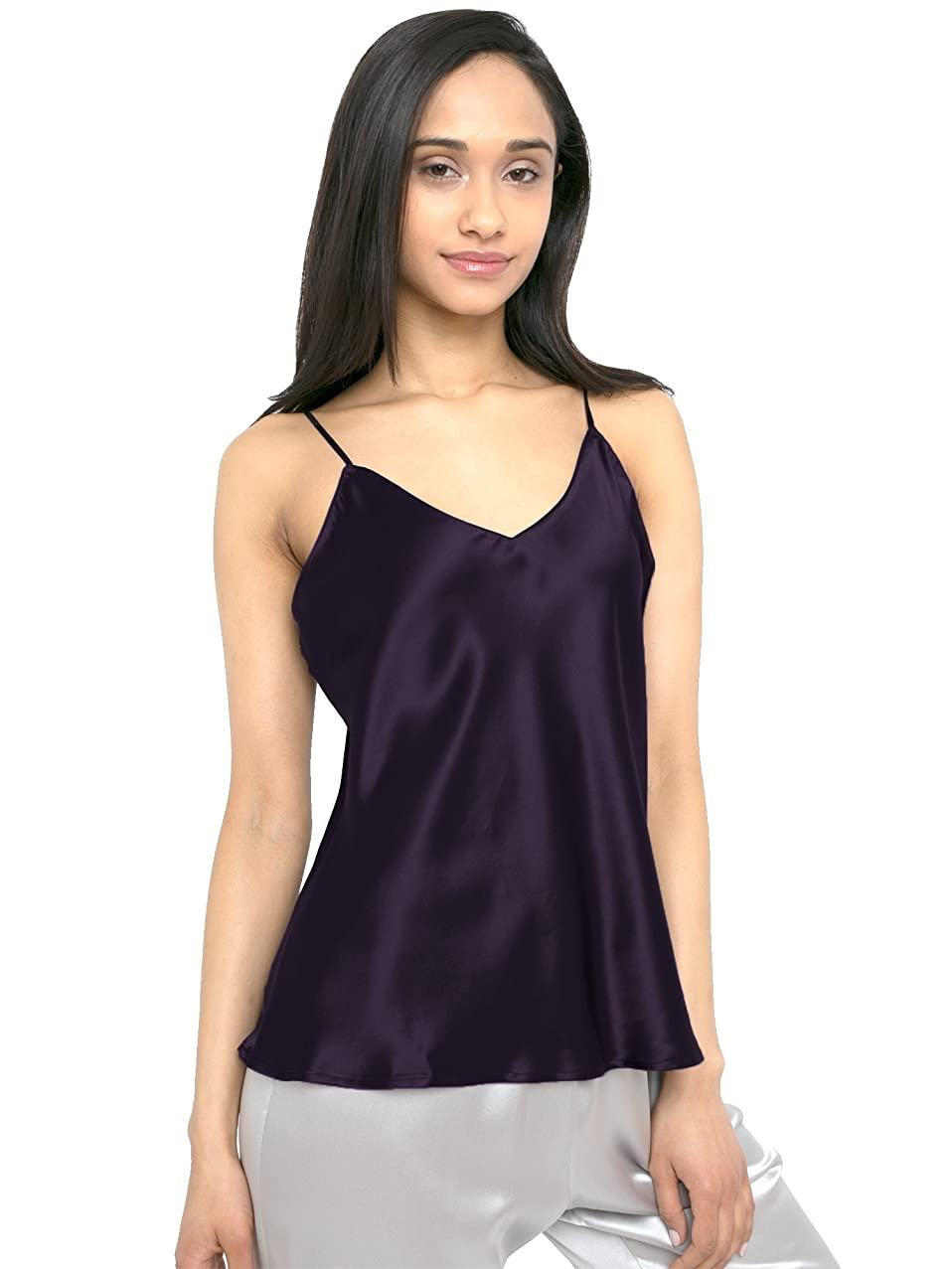 MYK 21 Momme 100% Pure Silk Camisole with Adjustable Strap for Women, 100% Mulberry Silk, Lightweight and Breathable