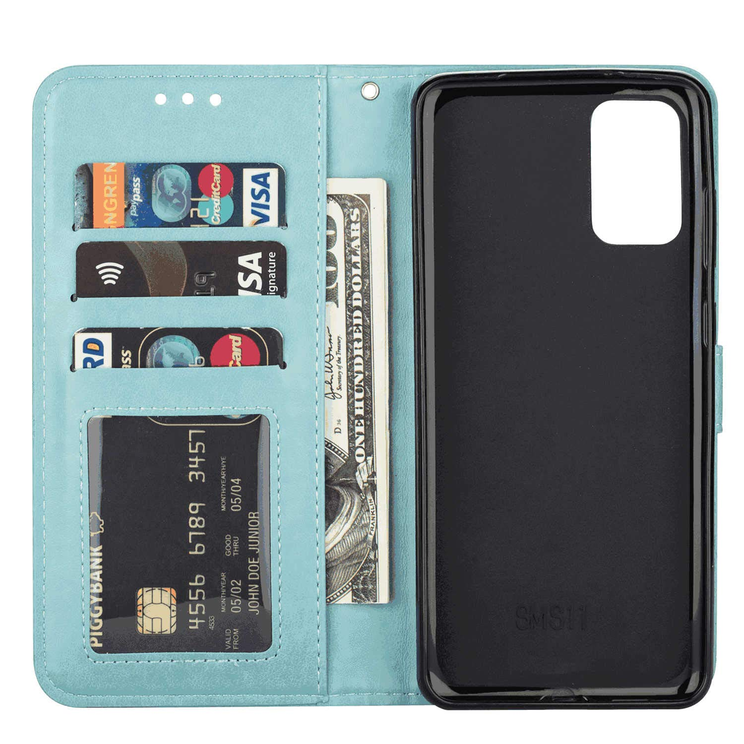 Stylish Cover Compatible with Samsung Galaxy S10 5G Green Leather Flip Case Wallet for Samsung Galaxy S10 5G