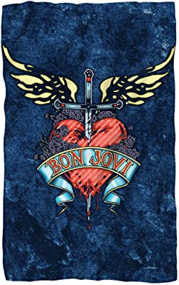 Bon Jovi - Weathered Denim Fleece Blanket 36 x 58in