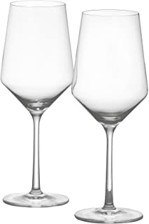Schott Zwiesel Tritan Crystal Stemware Pure Collection Cabernet/All Purpose Red or White Wine Glass, 18.2-Ounce, Set of 2,...