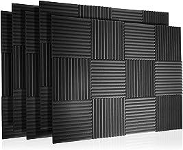 60 Pak akoestische panelen Foam Geluiddichte wiggen Wall Tegels Padding Studio Fireproof Muurschuim voor het absorberen va...