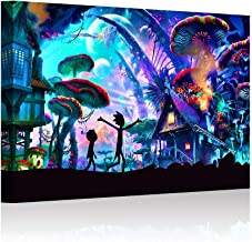 HAO SHUN DA HSD Wall Art Rick and Morty Posters Decor On Canvas Oil Painting Posters and Prints Decorations Children Gift ...