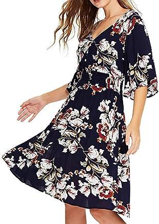 pitashe Womens Cold Shoulder Dress O-Neck Short Sleeve Boho Mini Dress Casual Sundress T-Shirt Dress for Summer with Pockets