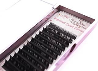 Volume Faux Mink Eyelash Extensions 0.15mm Thickness D Curl 8-14mm Mixed Individual Light Natural Lash Extensions Soft Application for Professional Salon Use (0.15 D Curl Mix)