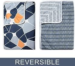 Divine Casa Reversible Single AC Blanket/Dohar Set of 2-Grey and Blue