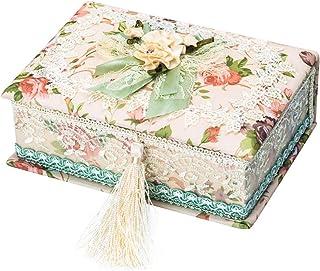 SHYPT Boîte à Bijoux Chinois Stockage en Bois Frais Chic Chic Boîte de Rangement Vintage Boîte à Bijoux for Femmes Filles