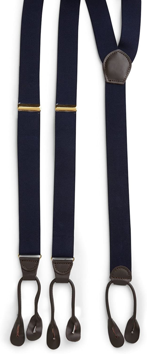 Harbor Bay by DXL Big and Tall Y-Back Button-On Suspenders Boxed Set