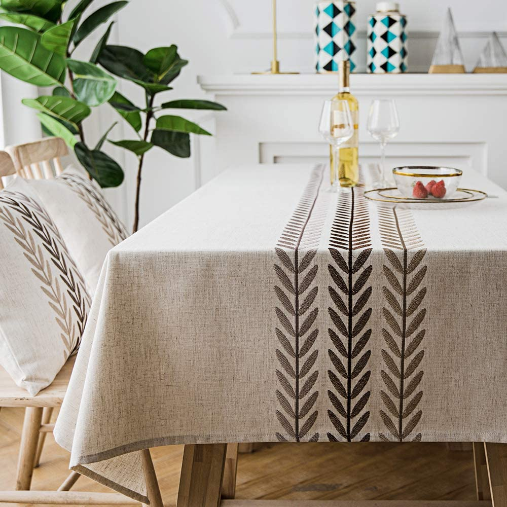 Spring new work one after another LINENLUX Stylish Square Rectangular Tablecloth Colorado Springs Mall K Cover for Table