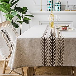 رومیزی مستطیل شکل مربع شیک / روکش میز مستطیل گیاه آب آبی تزئین شده روی میز آشپزخانه ناهار خوری / مستطیلی 55 X 70 اینچ