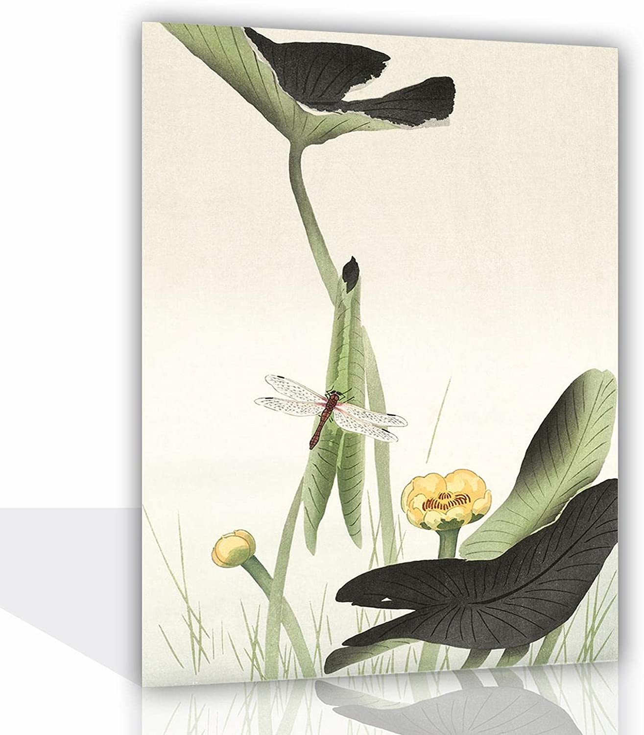 RUFULI Dragonfly on Lotus Flower Canvas Recommended Pictur 2021 new Modern Poster Oil