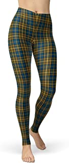 sissycos Women's Checkered Plaid Printed Leggings Christmas Stretchy Brushed Buttery Soft Tights
