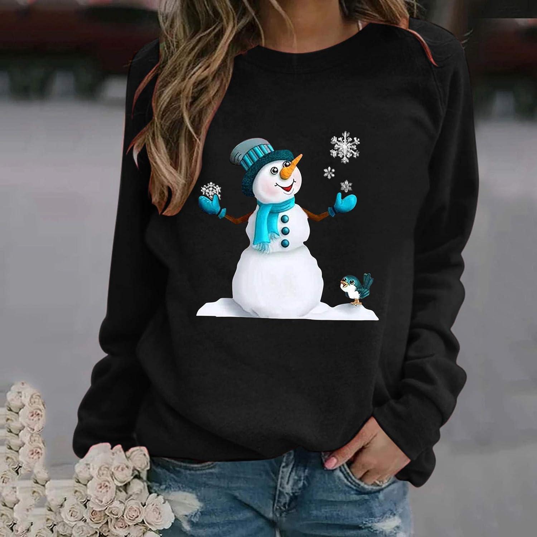 Zilosconcy Sudadera Navidad para Mujer Jersey Navide/ño Feo Sudaderas Navide/ñas Mujer Divertido Pullover Navidad Ugly Jerseys Navide/ños Chica Sudadera Navide/ña Talla Grande Sueter Anchas