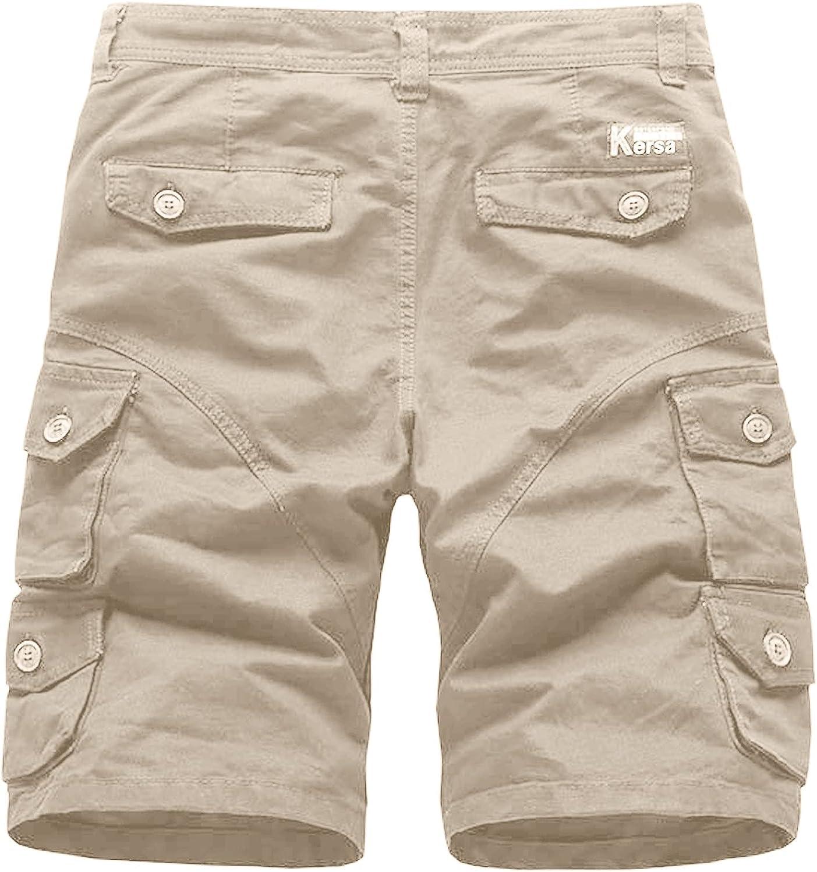 Navyoom Men Casual Outdoor Sport Shorts Breathable Multi Pocket Workwear Shorts Summer Leisure Big and Tall Shorts