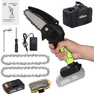 Abizoe Mini Chainsaw Cordless,4-inch Electric Chainsaw...