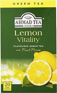 "English Teas, ""Lemon Green Tea"" - Tagged & Aluminium Foil Enveloped Teabags"