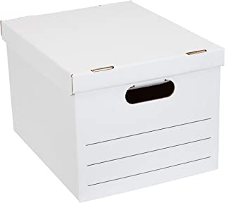 AmazonBasics Basic Duty Storage/Filing Boxes with Lift-Off Lid - Pack of 12, Legal / Letter