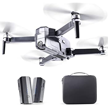 RUKO F11Pro Drones with Camera for Adults 4K UHD Camera Live Video 30 Mins Flight Time with GPS Return Home Brushless Motor-Black(1 Extra Battery + Carrying Case)