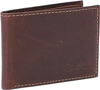 Portafoglio in cuoio Gusti Pelle studio ''Levi'' Portamonete in pelle Banconote Monete Vintage marrone scuro 2A143-22-6
