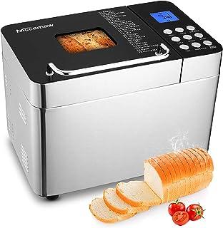 Nictemaw Panificadora Automática, 25 Programas, Capacidad 500g/750g/1000g, LCD,600W Máquina de pan con botón, 15H Temporiz...