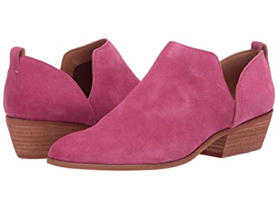 FRYE AND CO. Rubie Slip-On Bootie (Magenta Suede) Women