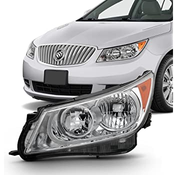 [ANLQ_8698]  Amazon.com: For [Left Driver Side] 2010 2011 2012 2013 Buick LaCrosse  Halogen Chrome Headlight: Automotive | Lacrosse Headlight Wiring |  | Amazon.com