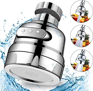 Movable Faucet Sprayer Head for Kitchen Sink, Hogreat 360° Replacement Anti Splash Tap Head, Faucet Filter Nozzle for Bathroom, Tap Booster and Water Saving with 3 Water Spray Modes