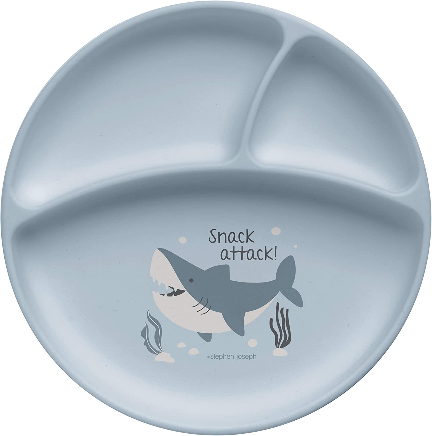 Stephen Joseph Silicone Baby Plate, One size, SHARK
