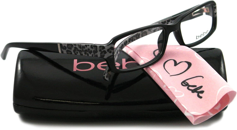 BEBE Eyeglasses BB5003 003 Jet 52MM
