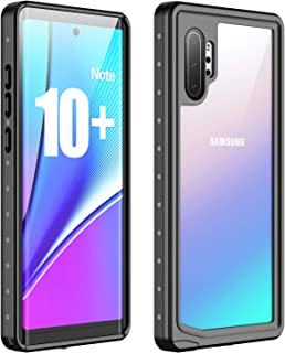 Galaxy Note 10+ Plus/5G Waterproof Case, Vapesoon with Built-in Screen Protector Heavy Duty Waterproof Shockproof Snowproof Clear Cover for Samsung Galaxy Note+ 10 Plus/5G 2019