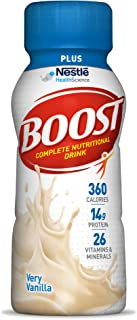 Boost Plus Complete Nutritional Drink, Very Vanilla, 8 Ounce Bottle (Pack of 24) 14 Grams Protein