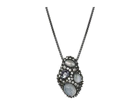 Alexis Bittar Stone Cluster Pendant Necklace