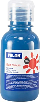 Milan 034456 - Témpera, 125 ml, color electro sky