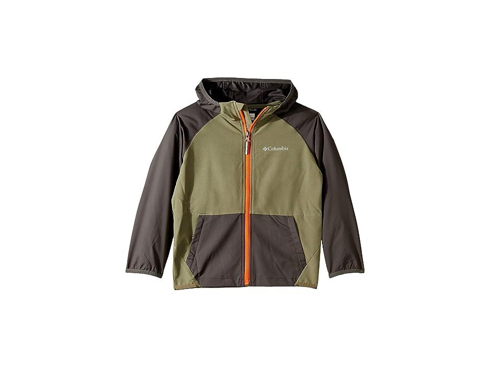 Columbia Kids Hidden Canyontm Softshell Jacket (Little Kids/Big Kids) (Cypress/Grill Heather/Tangy Orange) Boy