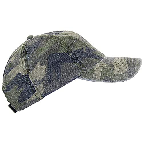 74238f51 MG Unisex Unstructured Ripstop Camouflage Adjustable Ballcap