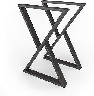 sossai® structure de table en acier | Cadre de table | Design - Pieds de table | TKG2 | Couleur: noir | 2 pièces | Largeur...