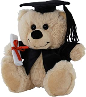 Elka Australia 76201-18GB Graduation Dressed Bear Jelly Soft Plush Toy, Beige, 18 Centimeters