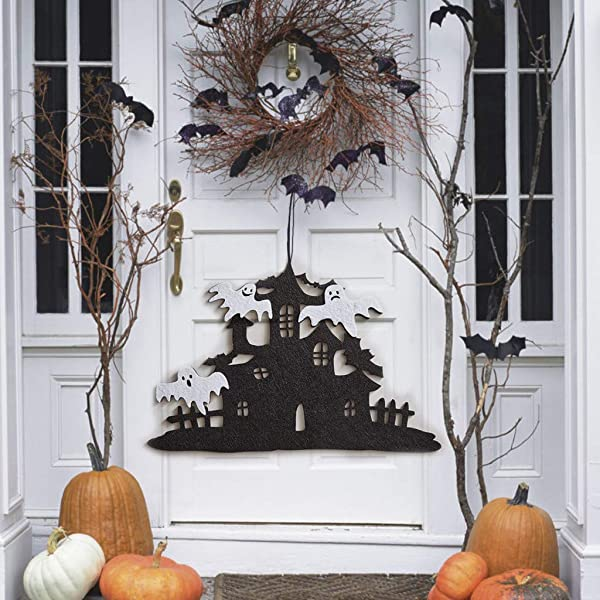 Beyonds Halloween Door Hanging Decorations Witch Pumpkin Ghost Hanging Pendant Halloween Party Decorations Home Indoor Outdoor Garden Door Wall Bar Decor Supplies