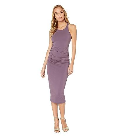 Michael Stars Racerback Dress w/ Shirring (Acai) Women
