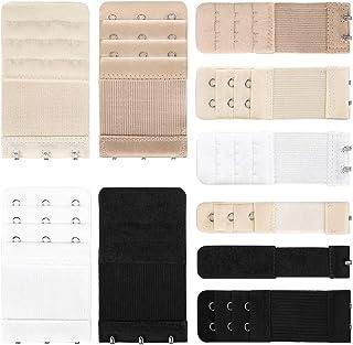 GeeRic 10 PCS Sujetador Extensor Sujetador Extensión de Tirantes Extensiones elásticas para Mujer, 4 Colores (1 hilera x 2...