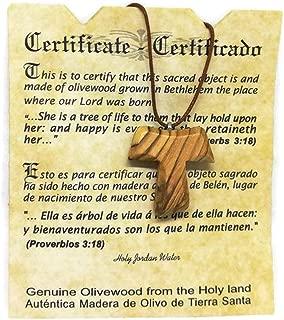 Olive Wood Pendant - Christian Tau Tao Cross Franciscan Design HJW
